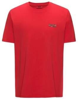 HUGO Boss Logo Cotton Graphic T-Shirt Durned M Red
