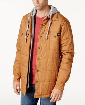 Dickies Men's Quilted Duck Fleece Hooded Jacket