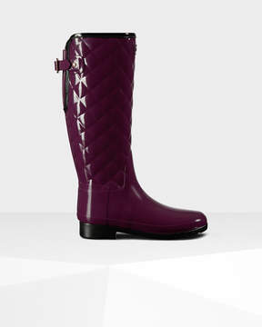 Hunter Women's Original Refined Quilted Gloss Rain Boots