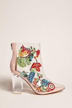 FOREVER 21 Privileged Shoes Lucite Boots