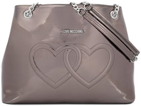 Love Moschino metallic double heart shoulder bag