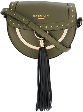 Balmain tassel saddle shoulder bag
