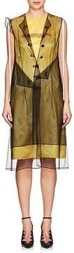 Calvin Klein Women's Mesh-Overlay Logo Dress