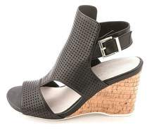 Kenneth Cole Womens Issac Perf Leather Open Toe Casual Wedged Sandals.