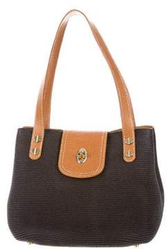 Eric Javits Leather-Accented Handle Bag