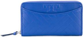 Tory Burch seam panel zip purse - BLUE - STYLE