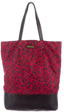 Rebecca Minkoff Leather-Trimmed Nylon Tote - ANIMAL PRINT - STYLE