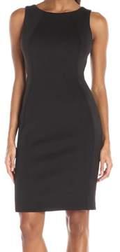 Calvin Klein Women's Cutout-Back Sheath Dress 10, Black