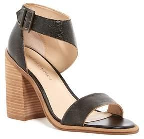 Kelsi Dagger Brooklyn Mayfair Distressed Leather Block Heel Sandal
