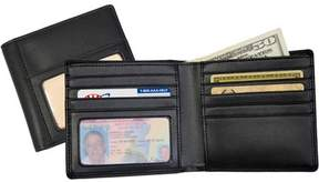 Royce Leather Double ID Hipster Bifold Wallet in Genuine Leather