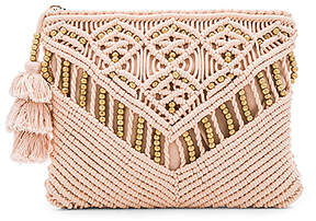 Cleobella Sevigny Clutch in Blush.