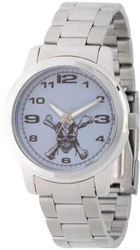 Disney Pirates of the Carribean Mens Silver Tone Bracelet Watch-Wds000374