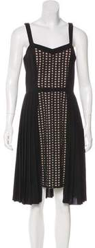 Timo Weiland Eyelet-Paneled Knee-Length Dress
