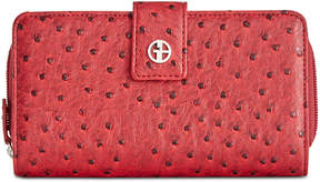 Giani Bernini Embossed Faux Ostrich All In One Wallet