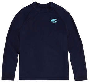 Arizona Swim Long Sleeve Rash Guard-Boys & Husky 4-20