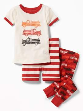 Old Navy 3-Piece Firetruck-Graphic Sleep Set for Toddler & Baby