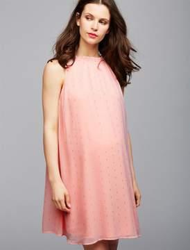 Collective Concepts Metallic Shine Maternity Swing Dress
