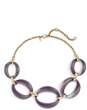 Alexis Bittar Women's Large Lucite Link Frontal Necklace