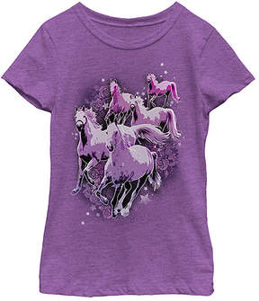 Fifth Sun Purple Berry Stampede Tee - Girls