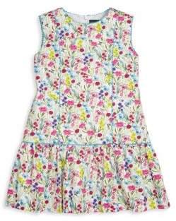 Oscar de la Renta Little Girl's Botanical Floral Dress