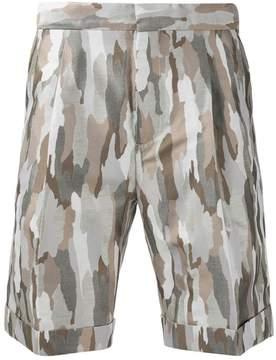 Cerruti camouflage print shorts