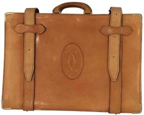 Cartier Vintage Camel Leather Travel Bag