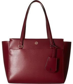 Tory Burch Parker Small Tote Tote Handbags - BLACK/CARDAMOM - STYLE