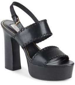 Rachel Zoe Halina Leather Open-Toe Platform Sandals