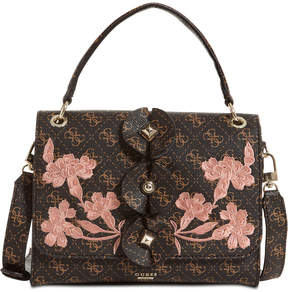 GUESS Eden Embellished Top-Handle Small Flap Bag