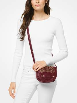 MICHAEL Michael Kors Cary Small Grommeted Leather Saddle Bag