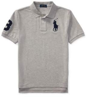 Ralph Lauren Cotton Mesh Polo Shirt Andover Heather S