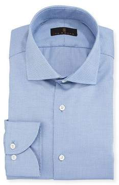 Ike Behar Gold Label Textured Cotton Dress Shirt, Blue