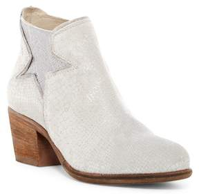 Khrio Snake Embossed Leather Bootie
