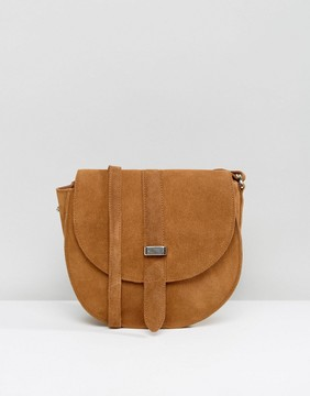 Reclaimed Vintage Inspired Suede Saddle Bag