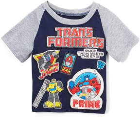 Freeze Navy & Gray 'Tranformers' Raglan Tee - Toddler