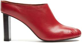 Joseph Block-heel leather mules