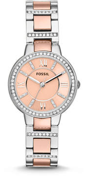 Fossil Virginia Two-Tone Stainless Steel Watch
