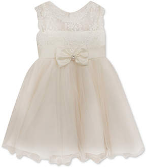 Rare Editions White Lace Illusion Dress, Baby Girls
