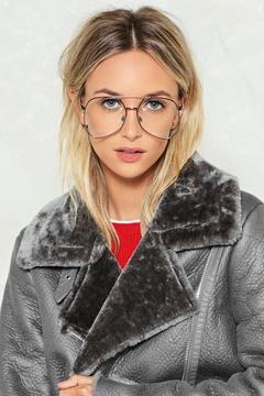 Nasty Gal nastygal Take Five Aviator Glasses