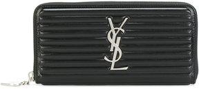 Saint Laurent monogram zip-around wallet - BLACK - STYLE