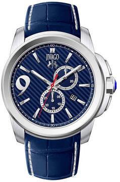Jivago Gliese Mens All Blue Leather Strap Watch