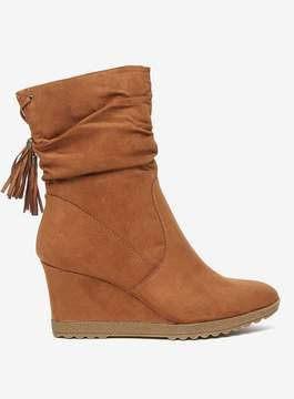 Dorothy Perkins Tan 'Taylor' Wedge Boots