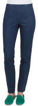 Akris Melissa Side-Zip Slim-Leg Stretch-Denim Pants