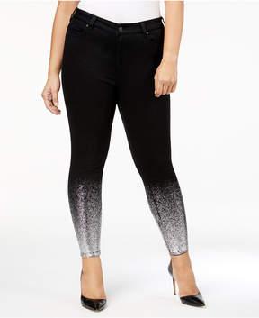 Celebrity Pink Trendy Plus Size Malika Metallic Skinny Jeans
