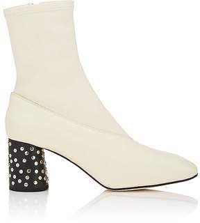 Helmut Lang Women's Studded-Heel Leather Ankle Boots