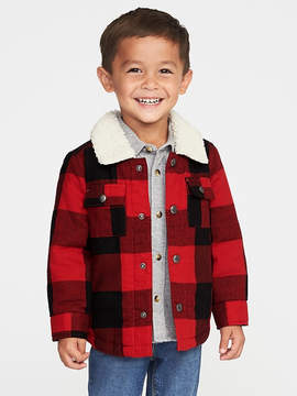 Old Navy Sherpa-Lined Plaid Shirt Jacket for Toddler Boys