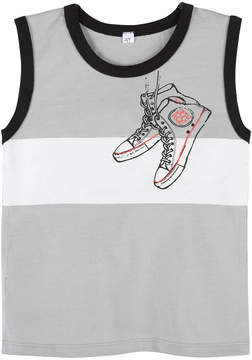 Andy & Evan Boys' Grey Sneaker Tank Top