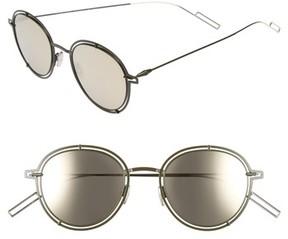 Christian Dior Men's 49Mm Round Sunglasses - Gold / Green