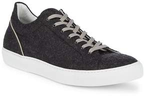 Saks Fifth Avenue Made in Italy Men's Flannel Top Sneakers