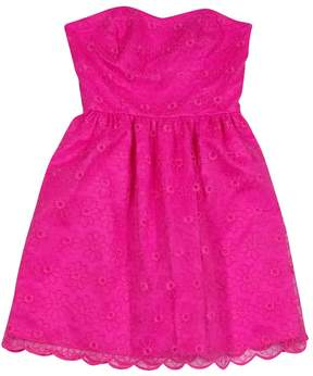 Lilly Pulitzer Pink Floral Organza Dress